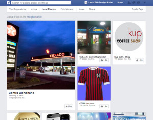 find local business pages on Facebook